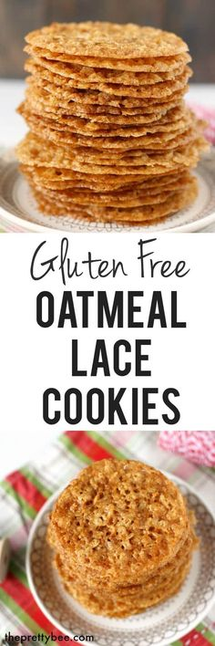 Free Oatmeal Lace Cookies These gluten free oatmeal lace cookies are super think and crisp. This is a delicious holiday cookie recipe!These gluten free oatmeal lace cookies are super think and crisp. This is a delicious holiday cookie recipe! Gluten Free Deserts, Gluten Free Sweets, Foods With Gluten, Gluten Free Cooking, Sans Gluten, Gf Recipes, Dairy Free Recipes, Pumpkin Recipes, Cake Recipes