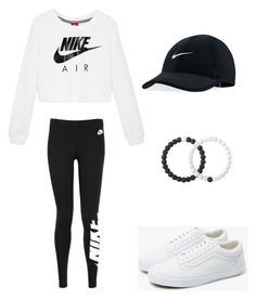 """Untitled #2099"" by esma178 ❤ liked on Polyvore featuring NIKE, Vans and Lokai"