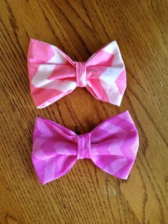 Chevron Bows by WithinThePines on Etsy