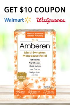 To Every Woman in Menopause.  Amberen relieves 12 menopause symptoms by naturally restoring your hormonal balance with NO SIDE EFFECTS!