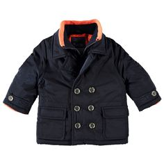 Warme Babyface winterjas met reverkraag voor jongens in de kleur blauw. Deze stoere jas, uit de winter collectie, is gemaakt van 100% polyester en houd jouw kind heerlijk warm. De winterjas is verkrijgbaar in de maten 74 t/m 104. De jas sluit met een knoopsluiting en heeft een beleg met ritssluiting. Op de voorkant twee pocketzakken met klep en de uiteinden van de mouwen hebben gebreide boorden. De binnenkant is gevoerd met gladde polyester en de jas heeft een polyester vulling.