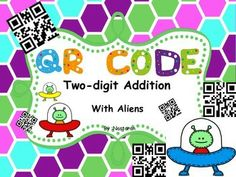 QR CODE 2-digit Addition With Aliens contains 32 task cards.Each task card has an addition problem and students can solve these problems using 2 answer sheets and then scanning the QR code to check their answer. This product is appropriate for reviewing and reinforcing two-digit addition with regrouping and without regrouping.