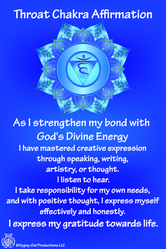 throat chakra affirmations - Google Search