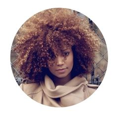 kinky hair rules ❤ liked on Polyvore  I ❤❤❤❤❤ her color!!