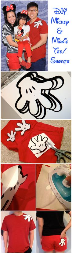 DIY Mickey & Minnie Mouse Family Coordinated Outfits for Disney Parks or Cruise