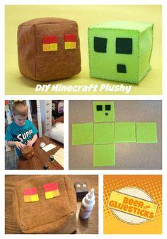 DIY Minecraft Felt Plushy Toy  #typeaparent #minecraft