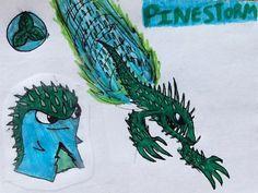 slugterra elemental slugs | Pinestorm: can through exploding pinecones/ can create a focused storm ...