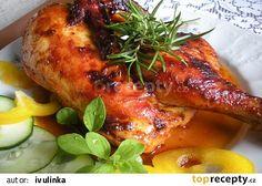 Kuře pečené v máslové marinádě recept - TopRecepty.cz Tandoori Chicken, Chicken Wings, Food And Drink, Turkey, Treats, Ethnic Recipes, Cooking, Sweet Like Candy, Goodies