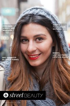 Street Beauty by She Said Beauty Kaltrina wears Rimmel Foundation in Natural, Rimmel Eyeliner and Mascara, MAC Bronzer, Rimmel Blusher and Rimmel Lasting Finish Lipstick in Alarm #makeup #beauty