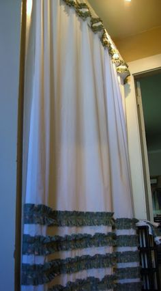Handmade Ruffled Shower Curtains Might Be Nice For A Girls Room With Pink Ruffles