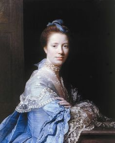 Allan Ramsay (1713-1784) Scottish Portrait Painter-I love the detail this painting has.