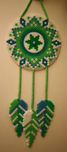 Dreamcatcher hama beads by Wolliges Papier by Wolleplanet