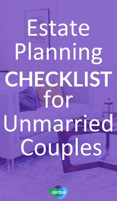 Estate Planning Checklist for Unmarried Couples. In it for the long haul, haven't tied the knot? Make sure you're prepared for the worst. Learn about estate planning for unmarried couples. Financial Literacy, Financial Tips, Financial Planning, The Knot, Wealth Management, Money Management, Money Makeover, Savings Planner, Tips & Tricks