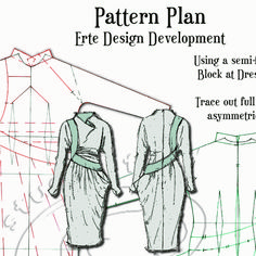 22 fabulous pages of content including sketches, diagrams, photos and garment making instructions to help you have the most fun making your pattern. Pattern Drafting Tutorials, Pdf Sewing Patterns, Vintage Patterns, Clothing Patterns, Pattern Cutting, Pattern Making, Rare Clothing, Exquisite Corpse, How To Make Clothes