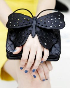 Brooch : DIY Chanel Leather Perforated Butterfly Bag