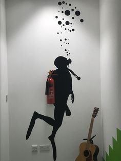 High quality images of interesting designs, including architectural, graphic, industrial, furniture & product design. Wall Painting Decor, Wall Decor, Karton Design, Deco Marine, Wall Murals, Wall Art, School Decorations, Creative Walls, Fire Extinguisher