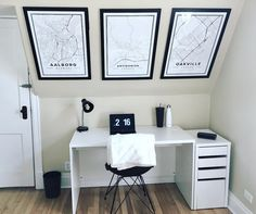 Map-wall of posters. Print sizes 50 x 70 cm available at Mapiful.com