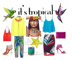 """""""Tropical Blend"""" by lifestylestories ❤ liked on Polyvore featuring NOVICA, Clover Canyon, Jil Sander, Amrita Singh, Mary Katrantzou, MANGO, Penny Loves Kenny and HOBO"""
