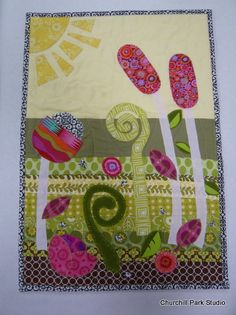 Spring Applique Quilt [what a fun whimsical design. I'm loving it! ;) Mo]