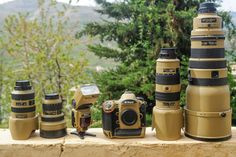 Military grade Desert Mirage Lizard painted Nikon gear