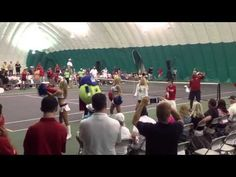 Metro DC DJs - Wobble as Washington Kastles Move Indoors due to rain...  Its the Kastles Dancers, Topspin & Guerin Austin from the Capitals