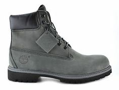 Timberland 6 inch Mens Waterproof Boots 71596 Grey Black | eBay