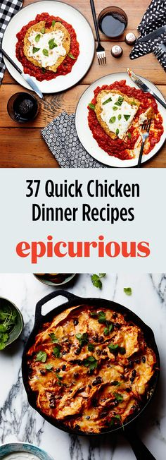 37 Quick and Fast Chicken Dinner Recipes Quick Chicken Recipes, How To Cook Chicken, Cooked Chicken, Buffalo Chicken, Epicurious Recipes, Winner Winner Chicken Dinner, Food 52, Weeknight Meals, Wine Recipes