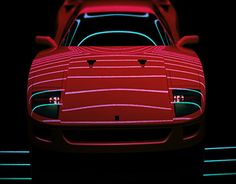 Red Supercar from the 80s Ferrari F40 turbo V12