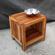 @Overstock.com - Teak Wood Tung Oil-finished Slat Shelf End Table (Thailand) - Add inviting warmth to your space with this slatted wood end table thats unique in its design and is sure to impress. This waterproof piece is constructed of gorgeous teak wood and will work as easily in a modern home as it will in a rustic one.  http://www.overstock.com/Worldstock-Fair-Trade/Teak-Wood-Tung-Oil-finished-Slat-Shelf-End-Table-Thailand/5319618/product.html?CID=214117 $194.99