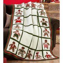 Red Heart� Gingerbread Christmas Blanket Crochet Afghan Kit