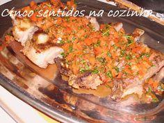 Cinco sentidos na cozinha: Cachaço à italiana grelhado com pimento e salsa