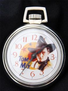Bradley Western Tom Mix Character Dial Pocket Watch