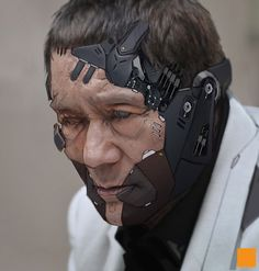 Takeshi Kitano, a Japanese cult artist and actor, as a cyborg from Metal Gear universe. Arte Cyberpunk, Cyberpunk 2077, Cyberpunk Fashion, Metal Gear, Nono Le Petit Robot, Takeshi Kitano, Cry Anime, Anime Art, Stupid Face