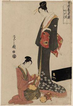 青楼芸者撰 おはね・おふく Ohane and Ofuku, from the series Selected Geisha of the Yoshiwara (Seirô geisha sen)