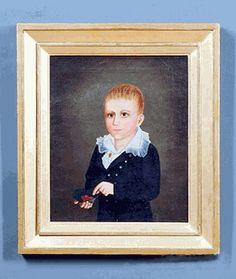 Antique oil on canvas portrait of Oliver C. Coffin, Nantucket