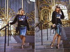 sweater & skirt via Angelica Blick