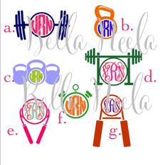 #Fitness #Workout # Decals #healthy #gymrat #gymlover  Fitness Decals by BellaNeela on Etsy