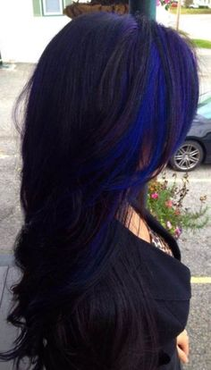 We've gathered our favorite ideas for Blue Black Hair Tips And Styles Dark Blue Hair Dye Styles, Explore our list of popular images of Blue Black Hair Tips And Styles Dark Blue Hair Dye Styles in blue hair dye color ideas. Black Hair Tips, Black Hair With Highlights, Color Highlights, Blue Peekaboo Highlights, Peak A Boo Highlights, Black Hair With Color, Pink And Black Hair, Navy Blue Hair, Hair Colors
