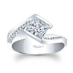 Princess Cut Engagement Ring - 8032L