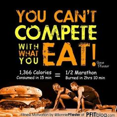 you can& out-train a bad diet!, you can& out-train a bad diet! you can& out-train a bad diet! you can& out-train a bad diet! Fitness Motivation, Fitness Tips, Health Fitness, Fitness Quotes, Fitness Fun, Exercise Motivation, Exercise Quotes, Fitness Classes, Fitness Goals