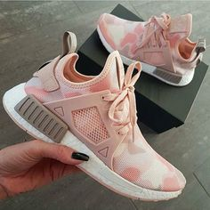 NMD Perfection ©ju.st.style Shopping link in bio ❤ camouflage pink adidas shoes camo