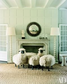 A whimsical flock of the beloved Lalanne sculptures from the Hamptons home of fashion designer Reed Krakoff and his wife