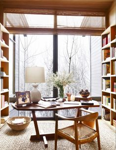 Aerin Lauder's library in Aspen, featured in Veranda, Nov-Dec 2015.