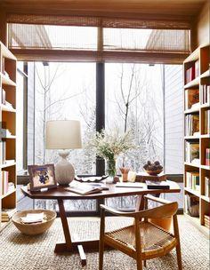 Aerin Lauder's library in Aspen, featured in Veranda, Nov-Dec 2015.