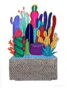 Impresión de caja cactus por CactusClub en Etsy