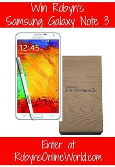 Win Robyn's Samsung Galaxy Note 3 Smartphone