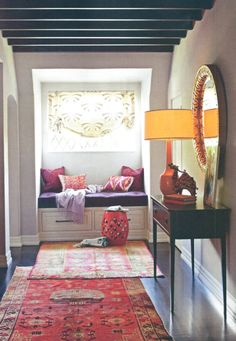 Boho chic style hallway. Apartment?