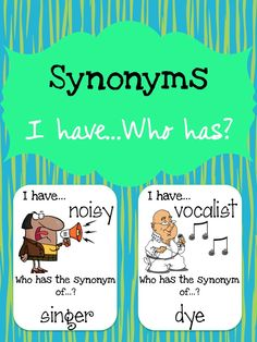 This synonyms card set can be used for small group, centers, morning warm-up, etc. They are intended to help students learn synonyms. There are a total of 44 synonyms word matches/cards included in this resource. $3