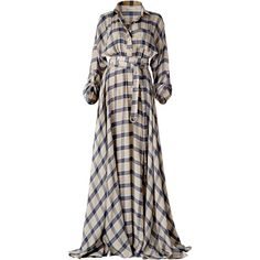 This **DANEH** Maxi Plaid Dress features a maxi silhouette with an elastic waist, 2 top pockets and a long multi wrap belt.
