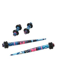 Acrylic Pink & Blue Aztec Micro Taper & Plug 4 Pack | Hot Topic